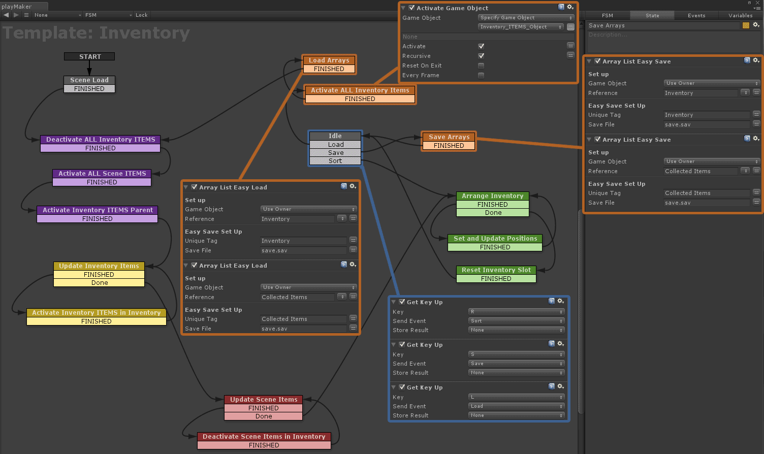 how to create save load unity
